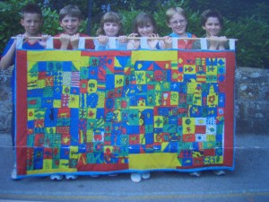 St Marks hand painted banner
