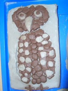 Owl tile from Harland School