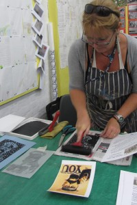 Carol Havard , Printing at the Fort as part of world war 1 day