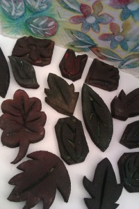 Leaf and flower printing