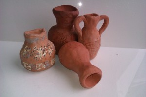 Greek pots in various stages