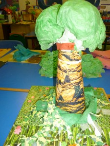Paper sculpture St Martins C of E Primary School