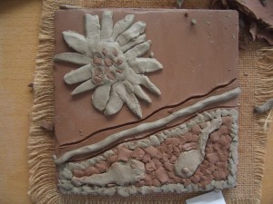 Clay Tile from Little Horsted School Project