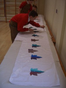 St. Michaels School time line printing