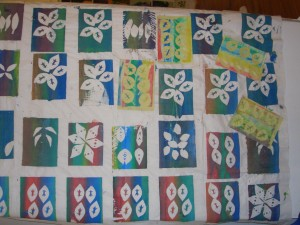 simple paper stencils are used