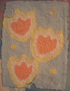 Pulp flower paper