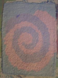 Paper pulp spiral