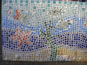 Section of the Denton Island Community Centre Mosaic