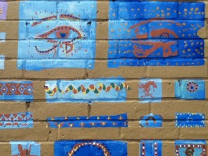 Egyptian section of the Saltdean Primary School mural