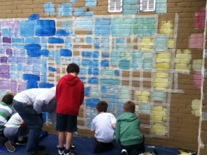 Saltdean Mural mixing colours