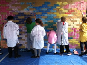 Saltdean Mural class groups of 15 paint for 30 minutes