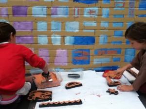 Saltdean Mural block printing
