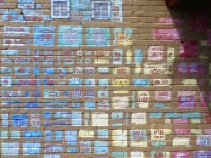 Saltdean Mural this grid is block printed onto