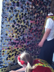 Saltdean Mural adding black spots