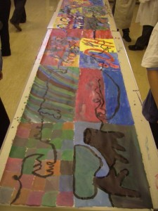 Paul Klee inspired painting