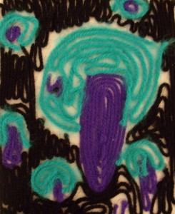 Painting with wool - Hundertwasser Trees