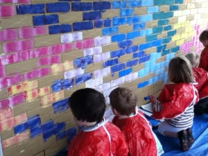 Saltdean Mural small wall for Reception pupils