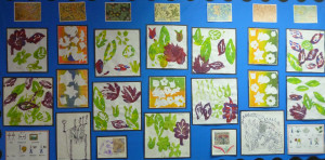 William Morris wall display year 1 St Martins