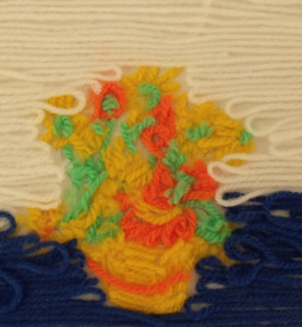 Painting with wool- Van Gogh