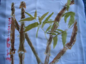 Chinese painting onto silk