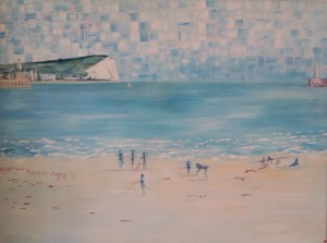 Newhaven Beach with figures 2003