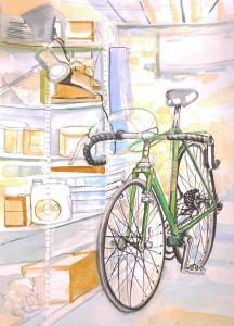 Vintage bike in France