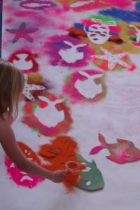 Removing stencils