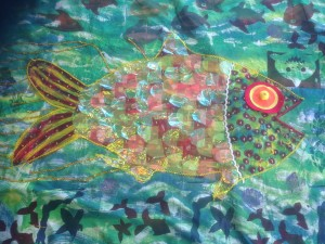 Finished textile fish