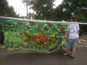 Family learning fish banner