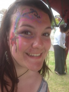 Lauren Slavin volunteer face painter