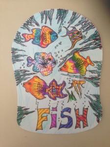 Paper fish caps